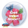 Get Well Soon Flower Bubble Balloon
