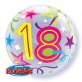 18th Birthday Brilliant Stars Bubble Balloon