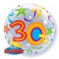 30th Birthday Brilliant Stars Bubble Balloon