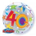 40th Birthday Brilliant Stars Bubble Balloon