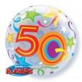 50th Birthday Brilliant Stars Bubble Balloon