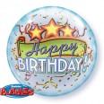 Birthday Triple Stars Bubble Balloon
