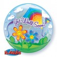 Get Well Soon Kites Bubble Balloon