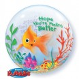 Feel Better Soon Fish Bowl Bubble Balloon