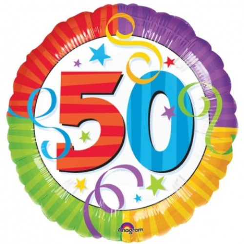 50th Birthday Perfection Foil Balloon