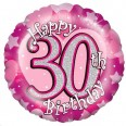 30th Shimmer Pink Foil Balloon