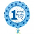 1st Birthday Boy Foil Balloon