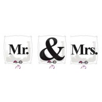 'MR & MRS' Foil Balloons
