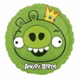 Angry Birds Green King Pig Foil Balloon