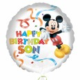 Mickey Mouse Happy Birthday Son Foil Balloon