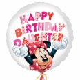 Minnie Mouse Happy Birthday Daughter Foil Balloon