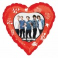One Direction Heart Foil Balloon