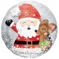 Santa & Cute Deer Insider Foil Balloon