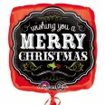 Merry Christmas Chalkboard Foil Balloon