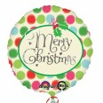 Merry Christmas Message & Dots Foil Balloon