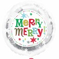 Merry Christmas Snowflakes Foil Balloon