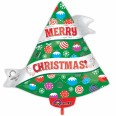 Ribbon Christmas Tree Junior Shape Foil Balloon