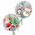 Santa, Snowman & Penguins Foil Balloon