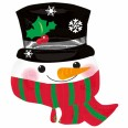 Snowman With Scarf Supershape
