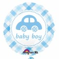 Baby Boy Plaid Car Foil Balloon