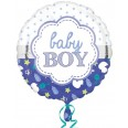 Baby Boy Scallop Foil Balloon