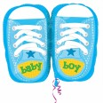 Baby Boy Sporty Blue Kicks Junior Shape Foil Balloon