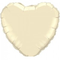 Ivory Heart Foil Balloon