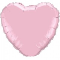 Pale Pink Heart Foil Balloon