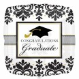Black & White Graduation Foil Balloon