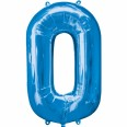 Foil Number '0' Blue Balloon