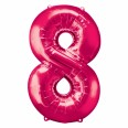 Foil Number '8' Pink Balloon