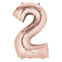 Rose Gold Number '2' Supershape