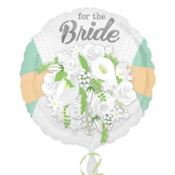 For The Bride Floral Foil Balloon