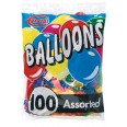 Pack of 100 Assorted Balloons