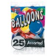 Pack of 25 Assorted Balloons