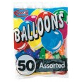 Pack of 50 Assorted Balloons