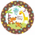 Welcome Baby Plates