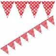 Ruby Red Flag Bunting
