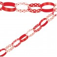 Ruby Red Paper Chain Garland