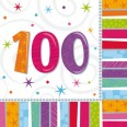 Radiant 100th Birthday Napkins
