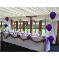 Purple & White Top Table Decoration
