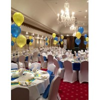 Yellow & Blue Table Decorations