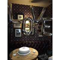 Large LOVE Letters in Silver