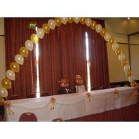 Gold & Ivory Arch over Top Table