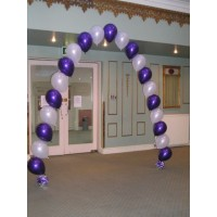 Purple & White Single Arch